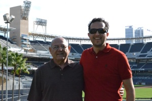 Dad and I at Petco Park.